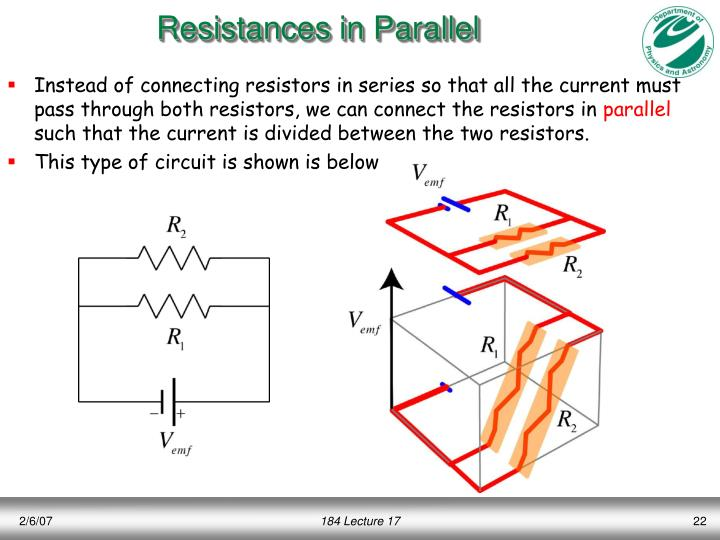 Resistances in Parallel