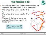 two resistors in 3d