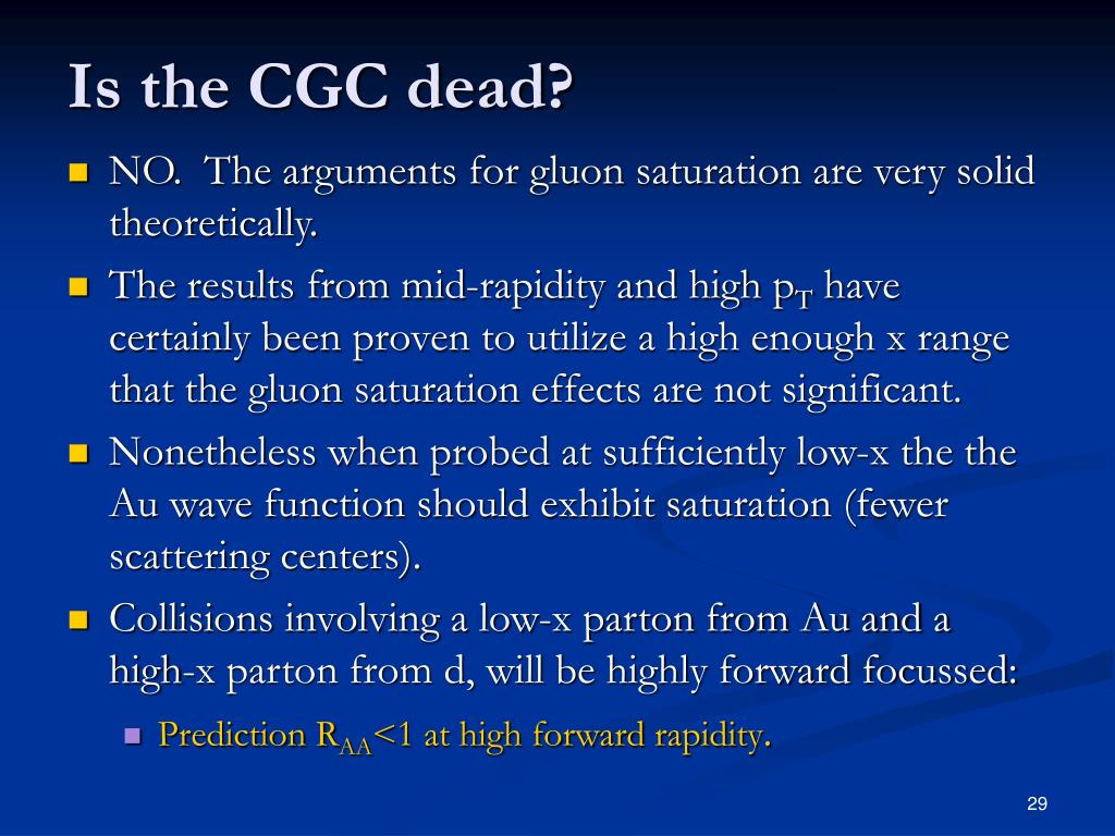 Is the CGC dead?