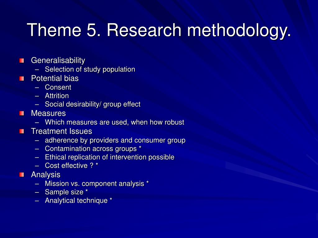 Theme 5. Research methodology.