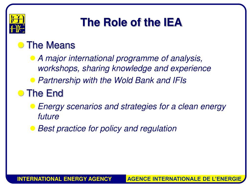 The Role of the IEA