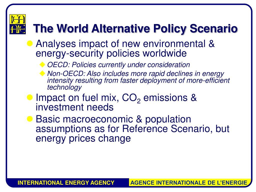 The World Alternative Policy Scenario