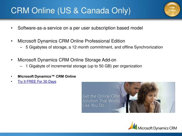 CRM Online (US & Canada Only)