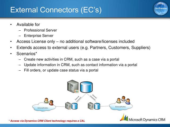 External Connectors (EC's)