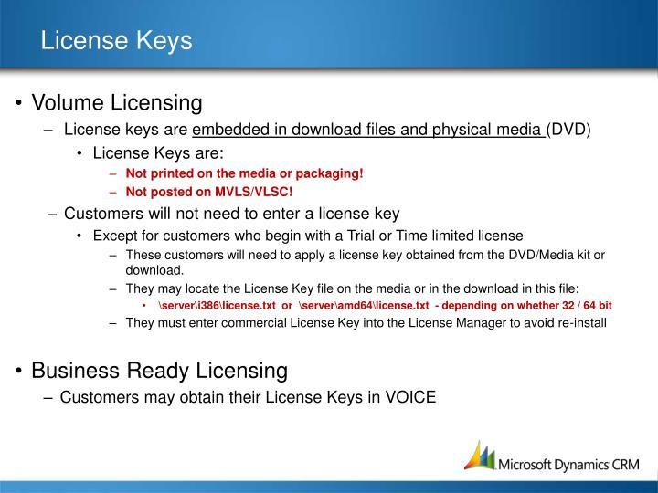 License Keys