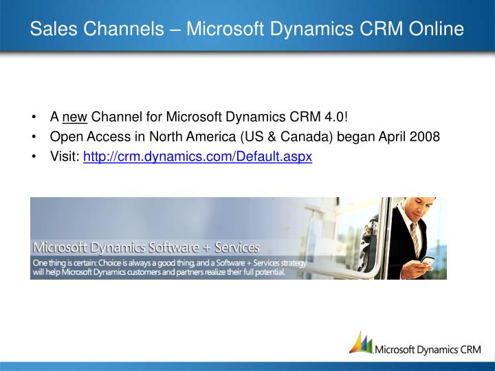 Sales Channels – Microsoft Dynamics CRM Online