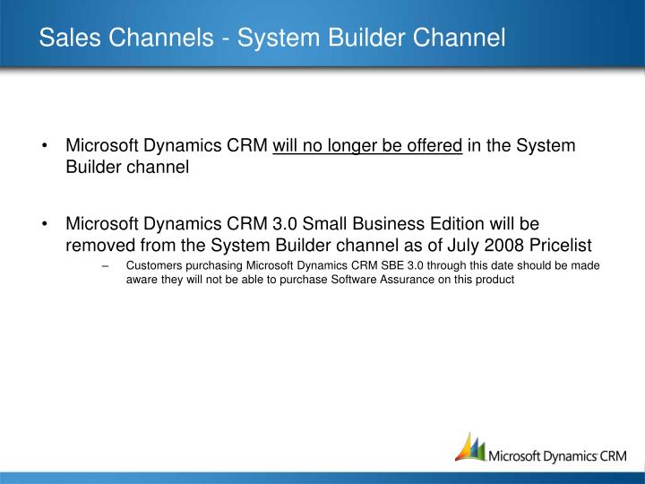Sales Channels - System