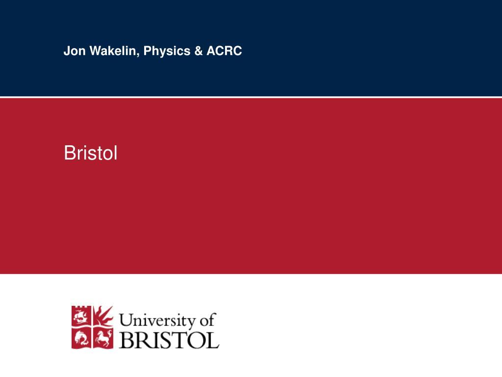 Jon Wakelin, Physics & ACRC