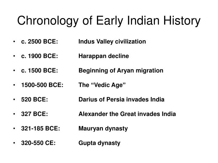 Chronology of Early Indian History