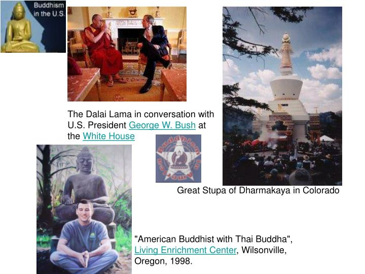 The Dalai Lama in conversation with U.S. President