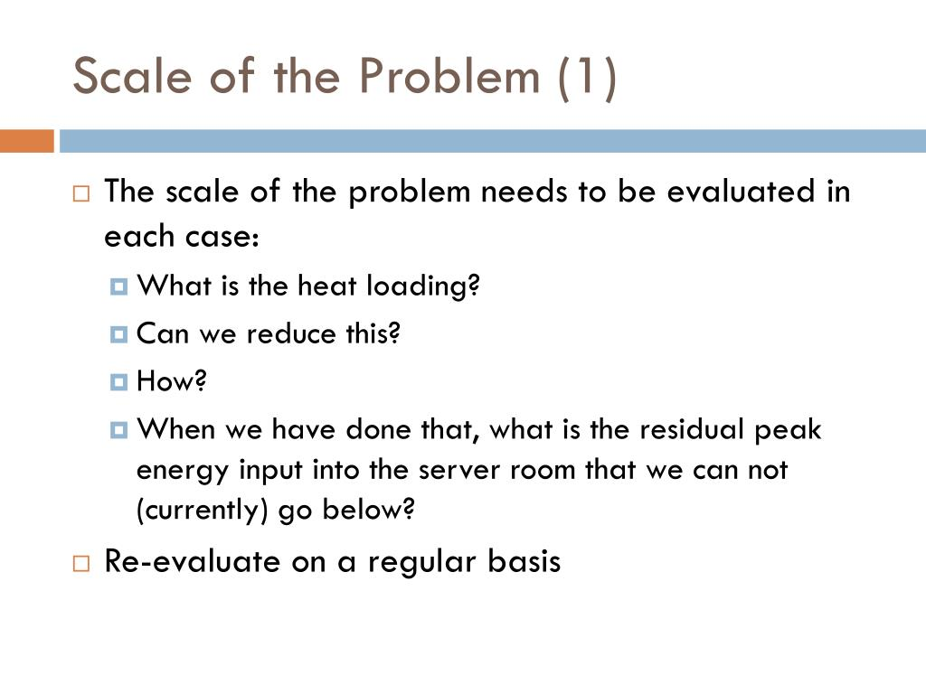 Scale of the Problem (1)