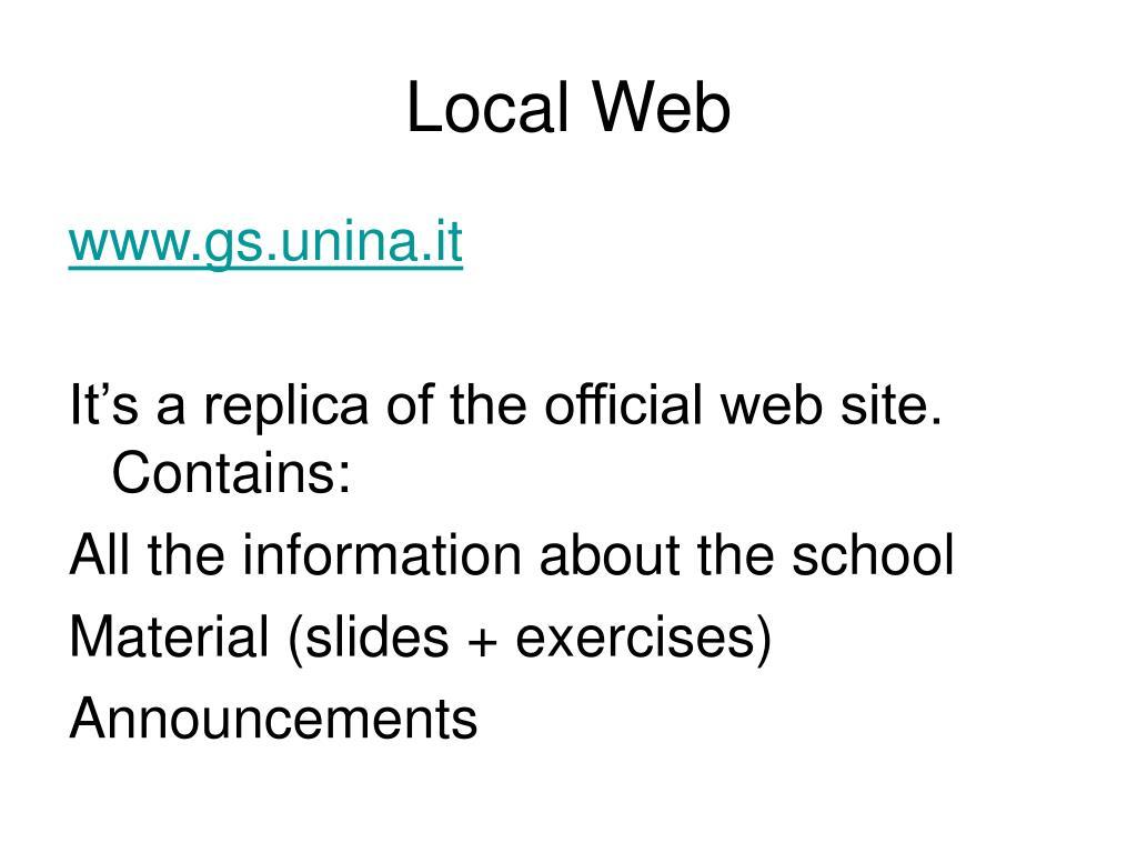 Local Web
