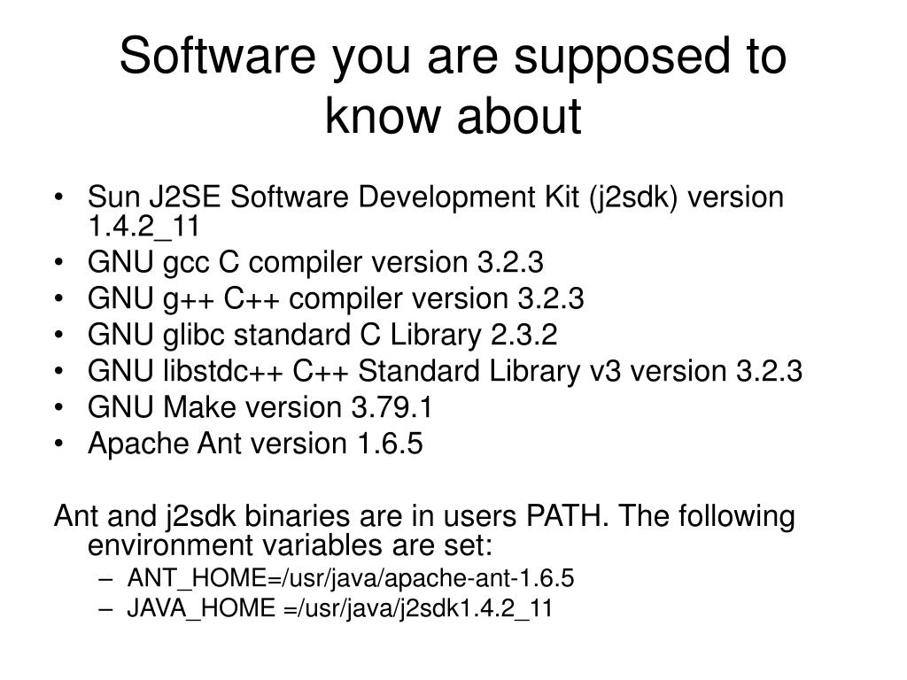 Software you are supposed to know about
