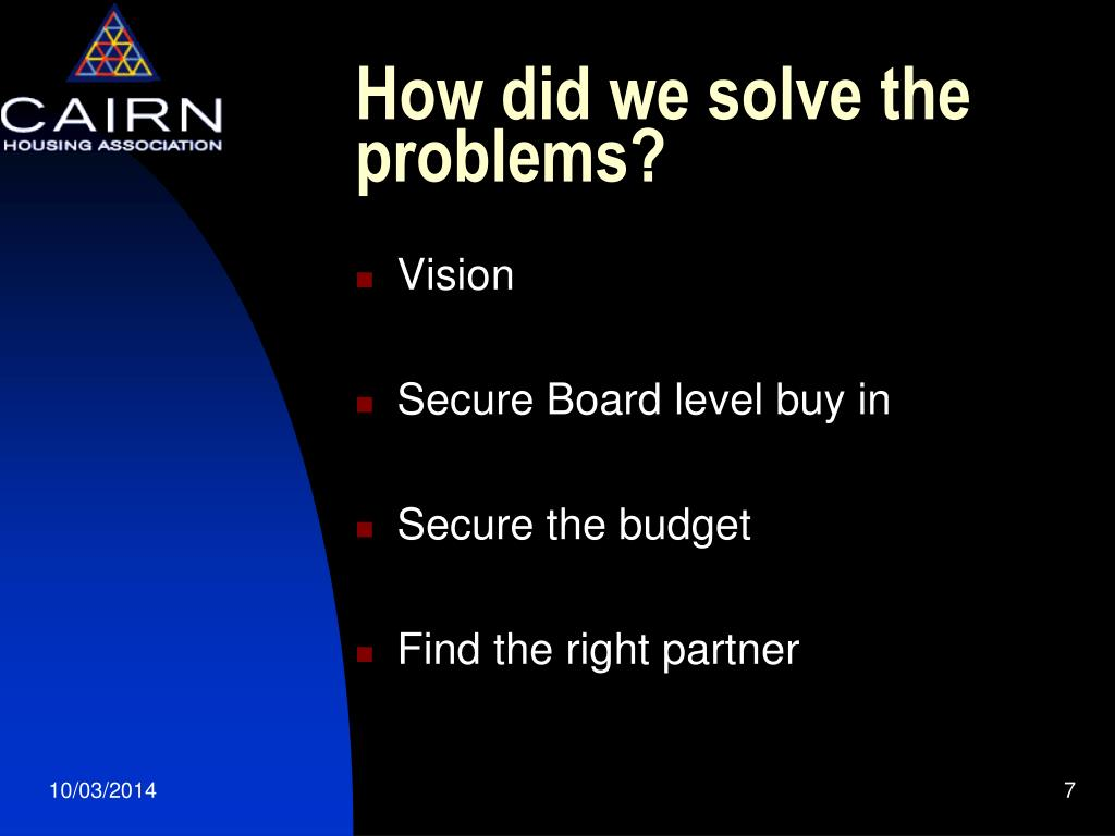 How did we solve the problems?