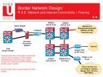 border network design r e network and internet connectivity peering