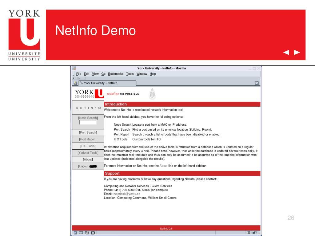 NetInfo Demo