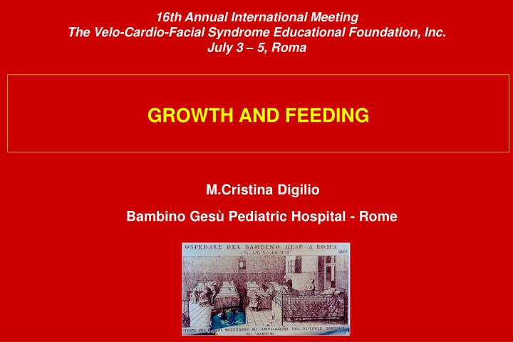 16th Annual International Meeting