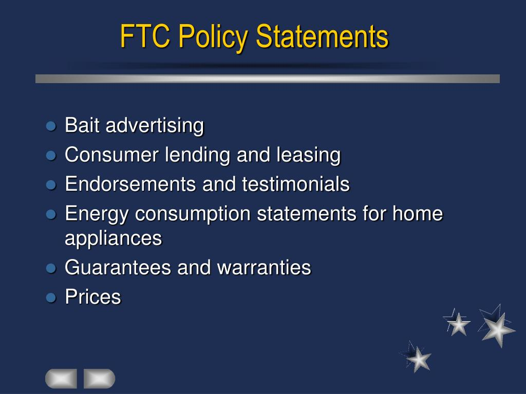 FTC Policy Statements