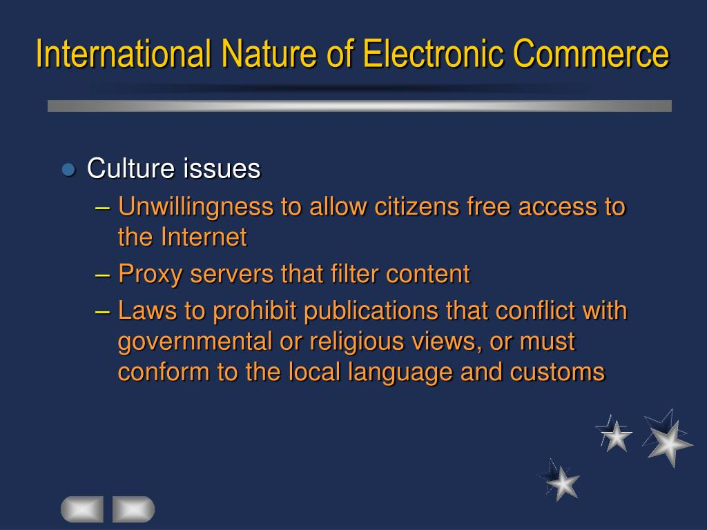 International Nature of Electronic Commerce
