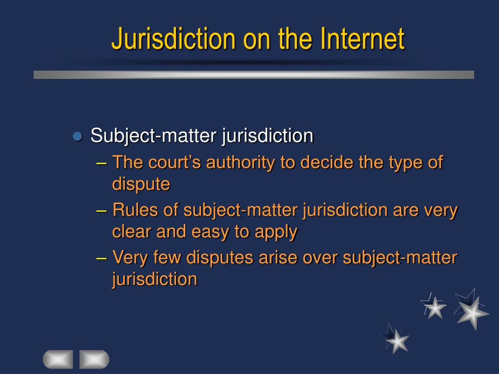 Jurisdiction on the Internet