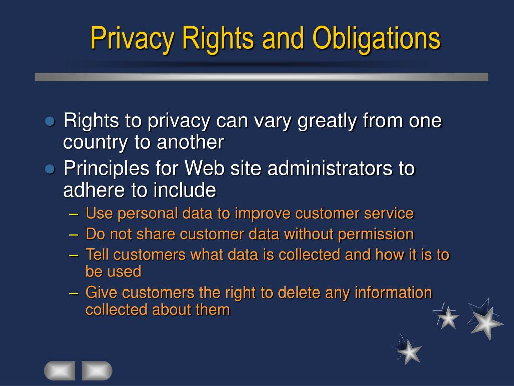 Privacy Rights and Obligations