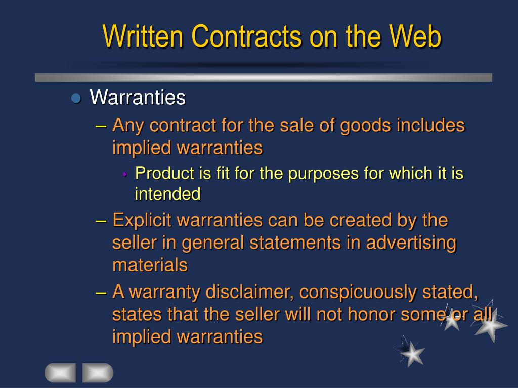 Written Contracts on the Web