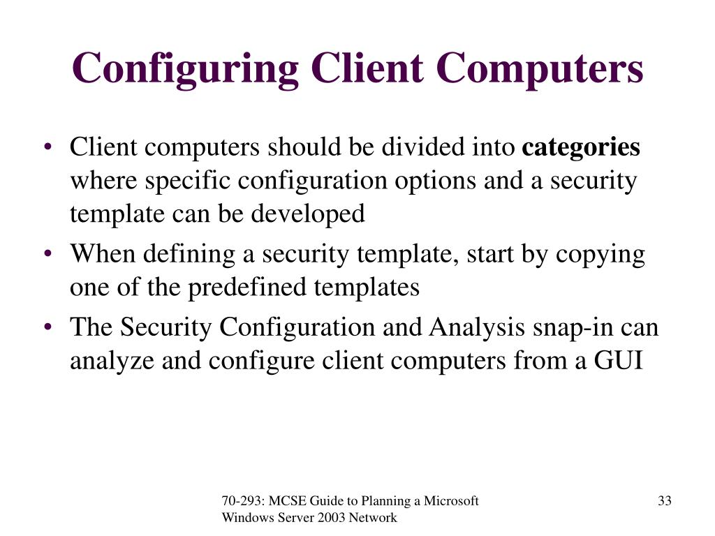 Configuring Client Computers