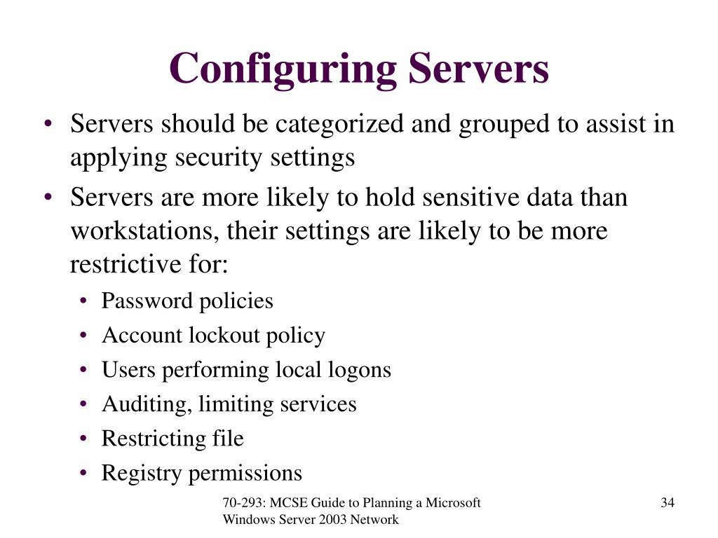 Configuring Servers