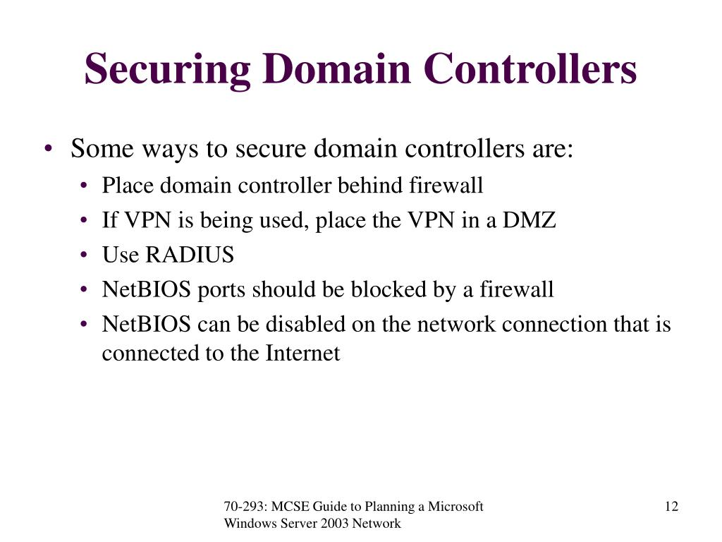 Securing Domain Controllers
