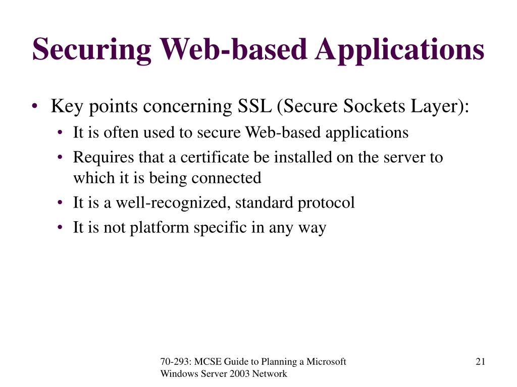 Securing Web-based Applications