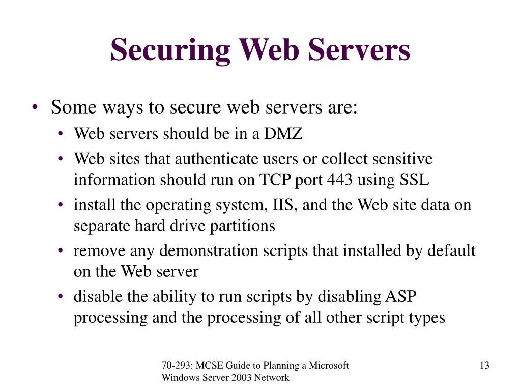 Securing Web Servers