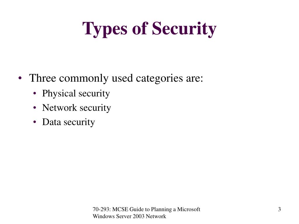 Types of Security