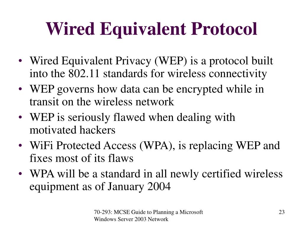 Wired Equivalent Protocol