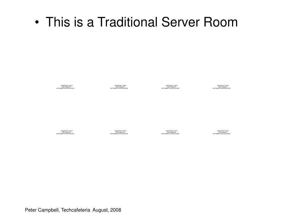 This is a Traditional Server Room