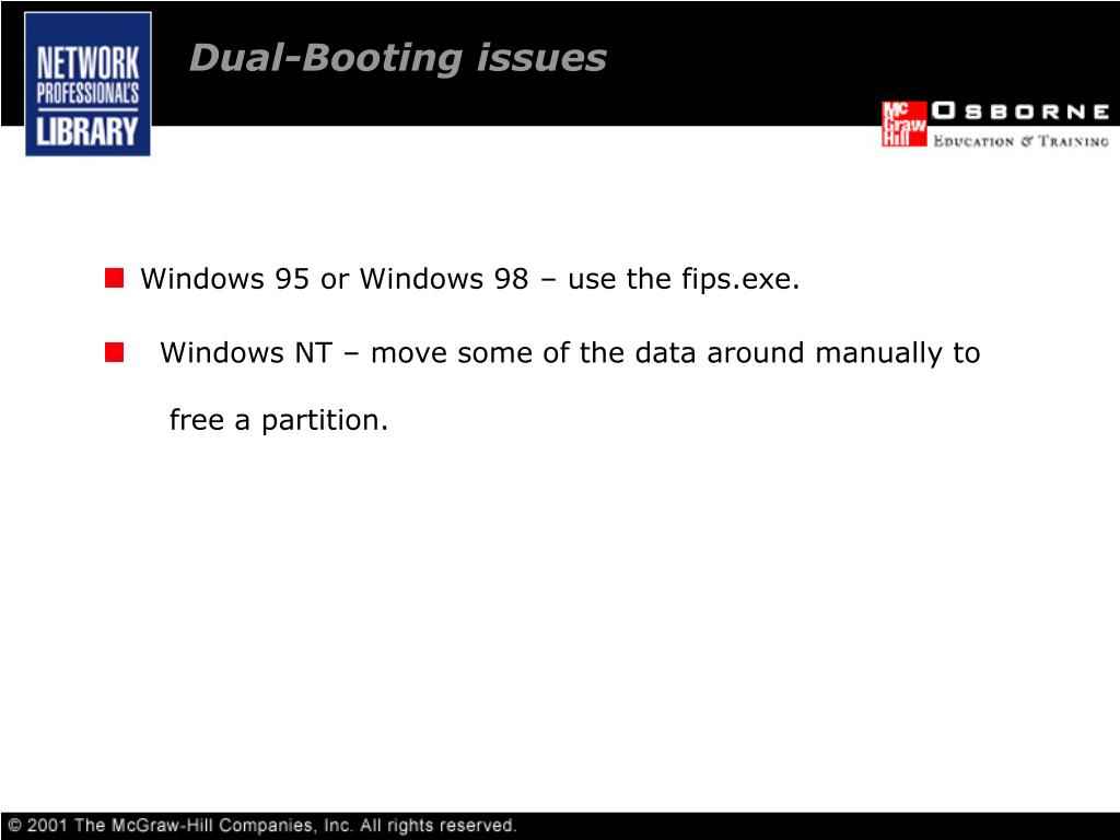 Dual-Booting issues