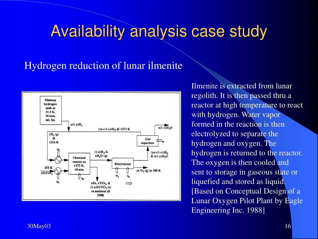 Availability analysis case study