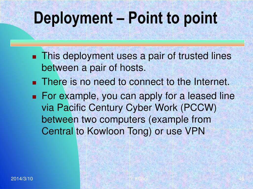 Deployment – Point to point