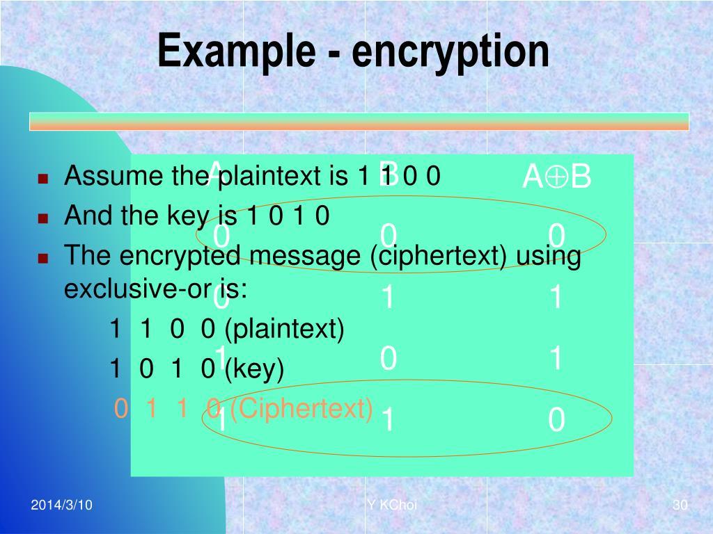 Example - encryption