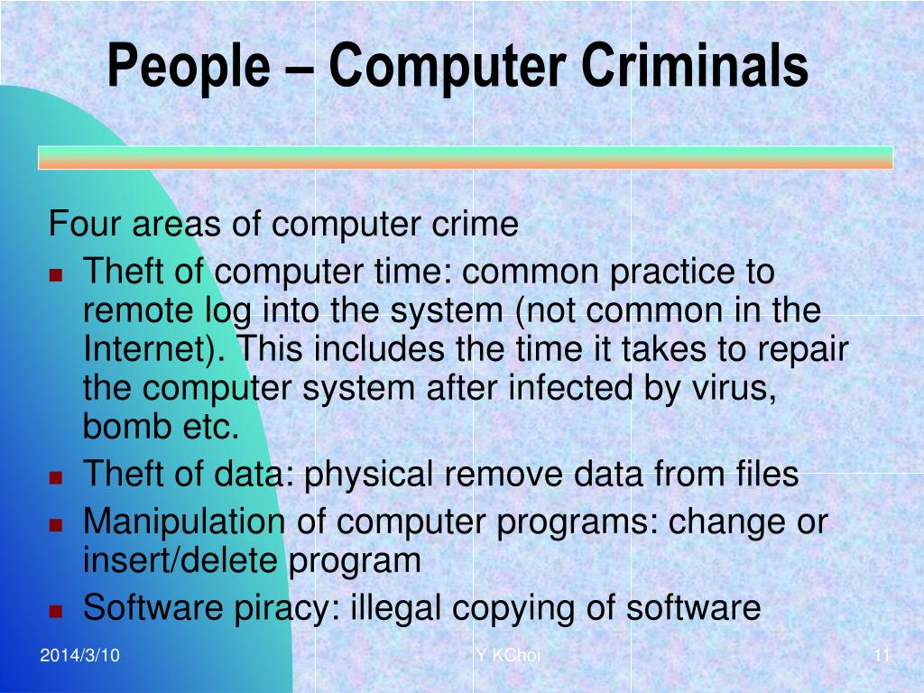People – Computer Criminals