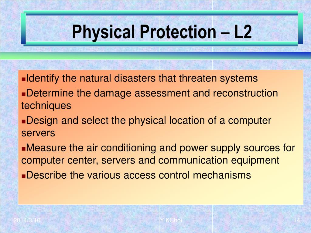 Physical Protection – L2
