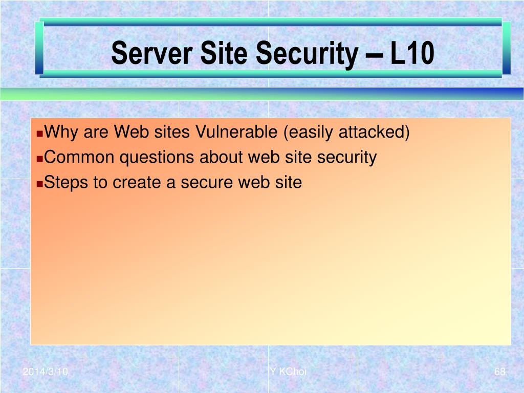 Server Site Security