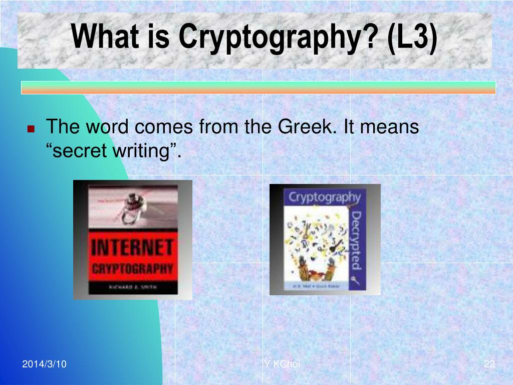 What is Cryptography? (L3)