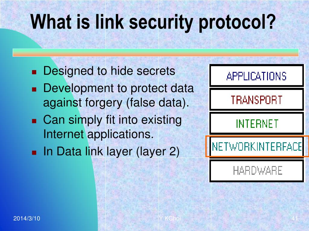 What is link security protocol?