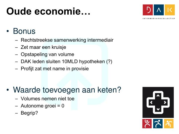 Oude economie…
