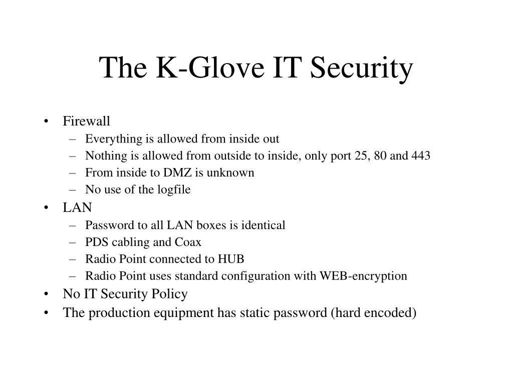 The K-Glove IT Security