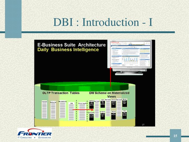 DBI : Introduction - I