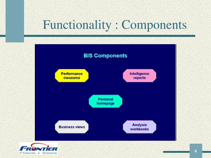 Functionality : Components