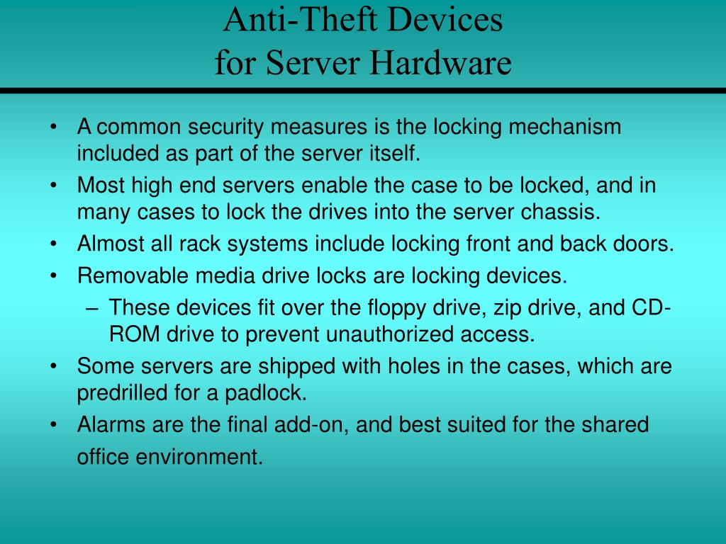 Anti-Theft Devices