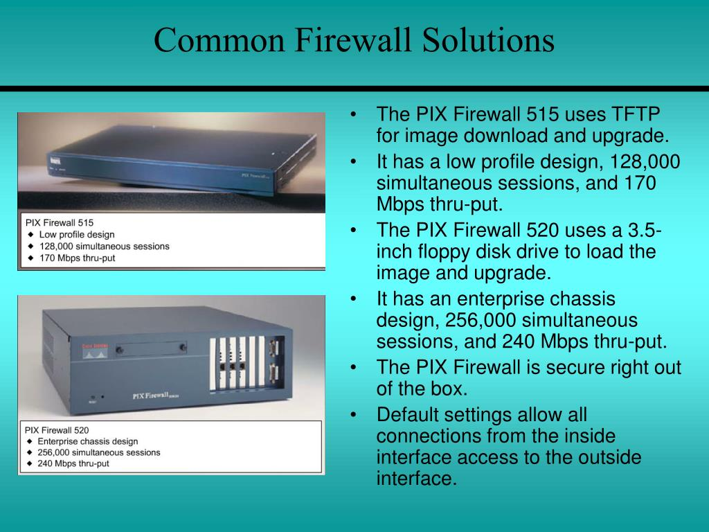 Common Firewall Solutions