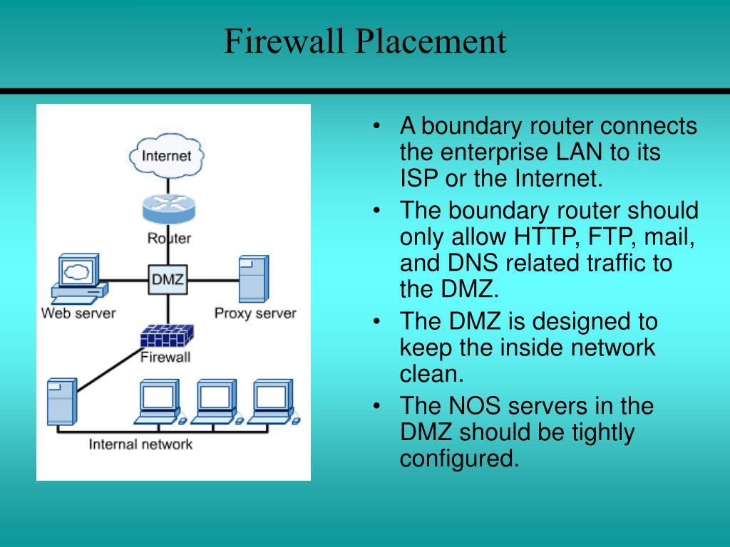 Firewall Placement